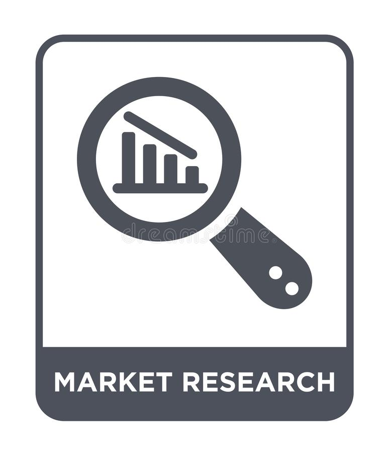 market research icon in trendy design style. market research icon isolated on white background. market research vector icon simple vector illustration