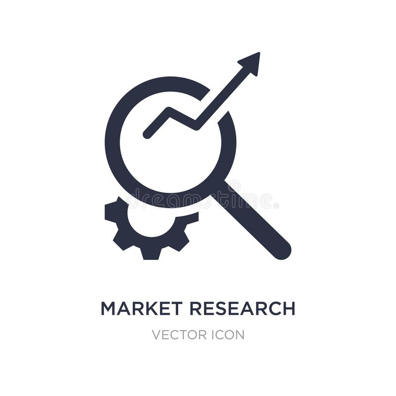 market research icon on white background. Simple element illustration from Business and analytics concept vector illustration