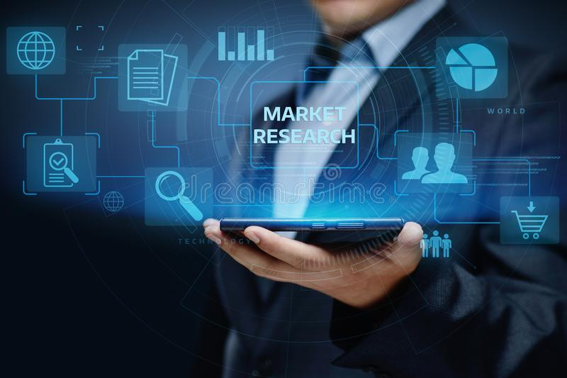 Market Research Marketing Strategy Business Technology Internet concept.  royalty free stock images