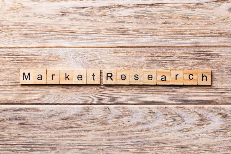 Market Research word written on wood block. Market Research text on wooden table for your desing, concept royalty free stock images