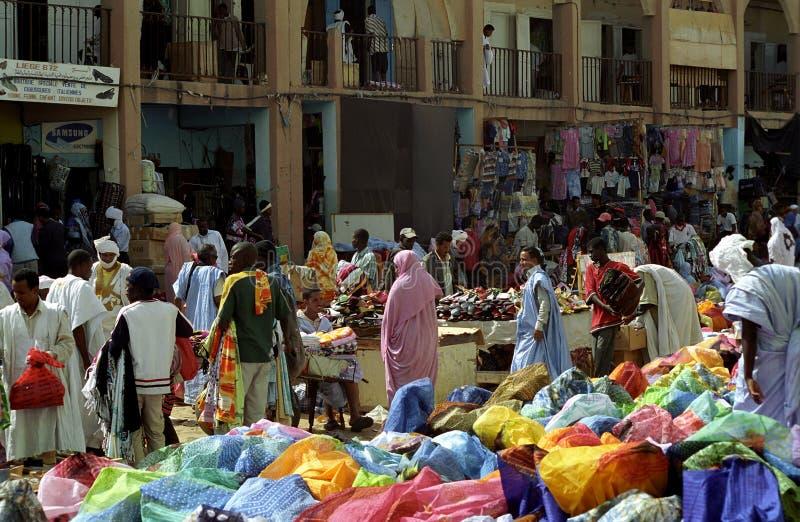 Market scene, Nouakchott, Mauritania royalty free stock photos