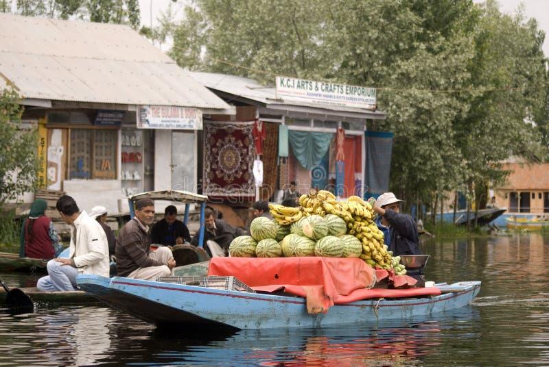 Market scene, Srinagar, Kashmir, India stock photo