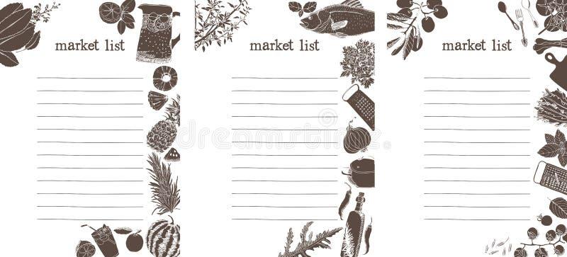 Market shopping list vector illustration