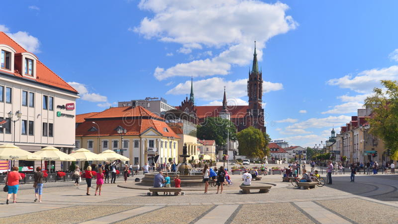 Market square in Bialystok royalty free stock photos