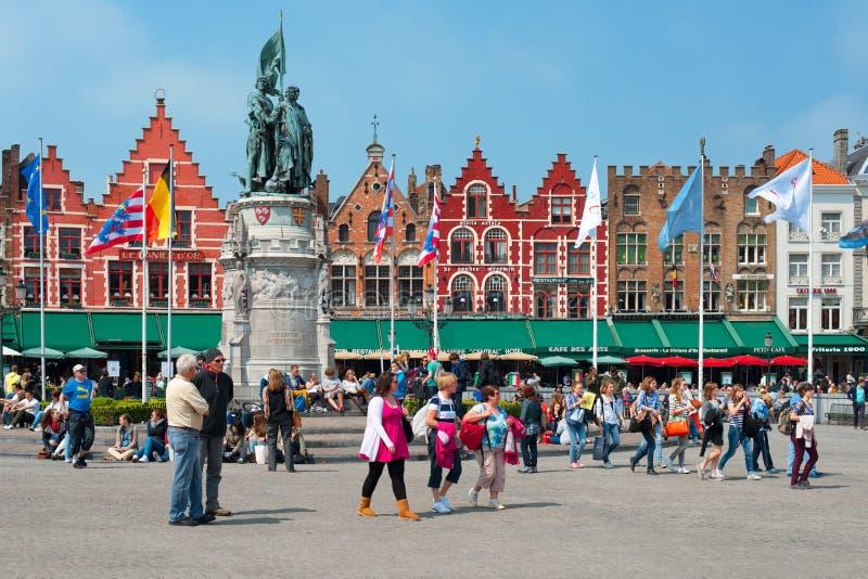 Market Square In Bruges Editorial Photo