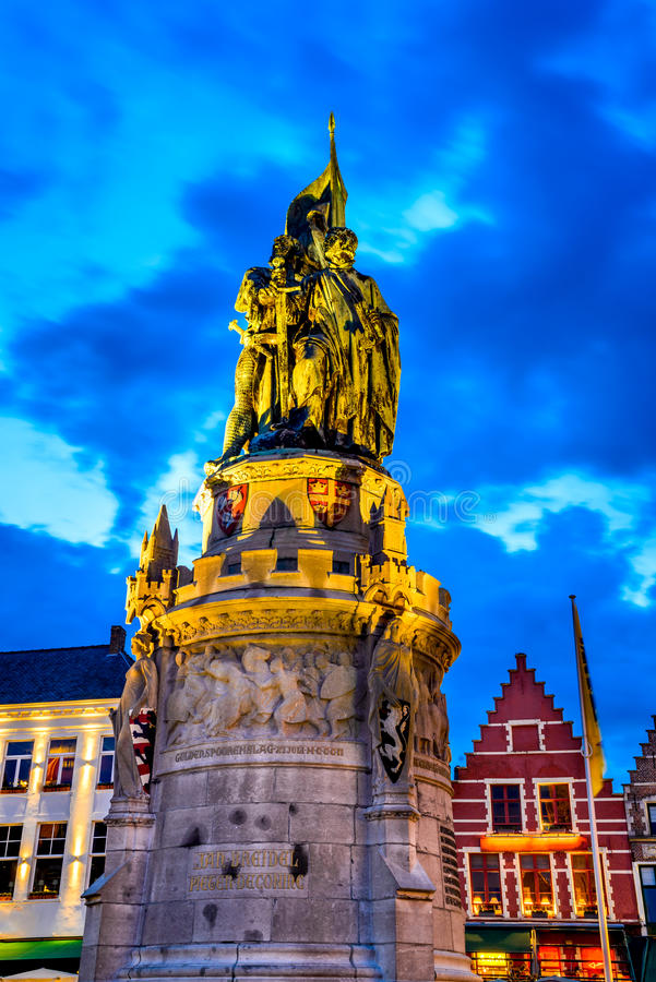 Market Square, Bruges royalty free stock photo