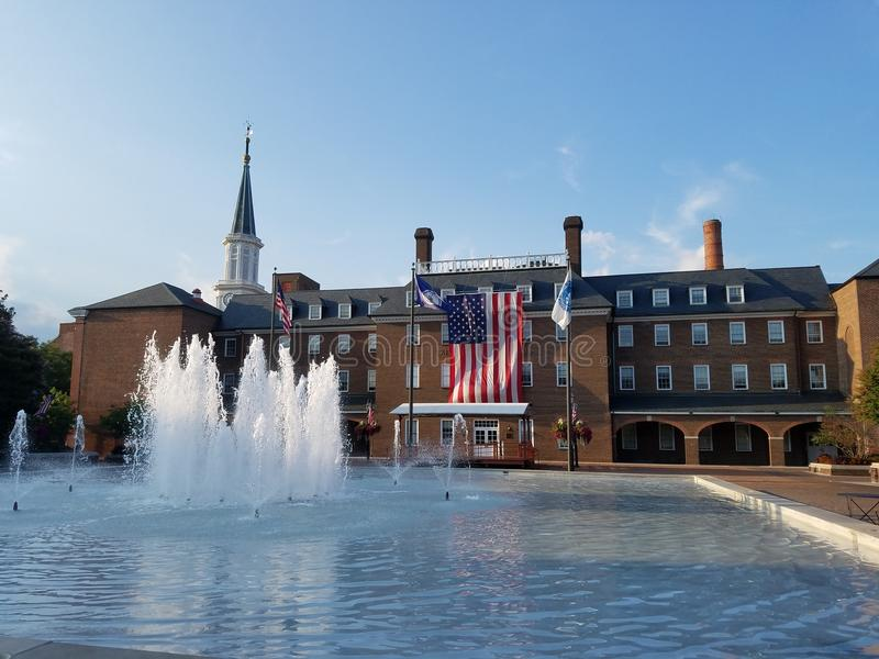Market Square and City Hall in Old Town, Alexandria, Virginia. An image of Market Square and City Hall in Old Town, Alexandria, Virginia royalty free stock photography