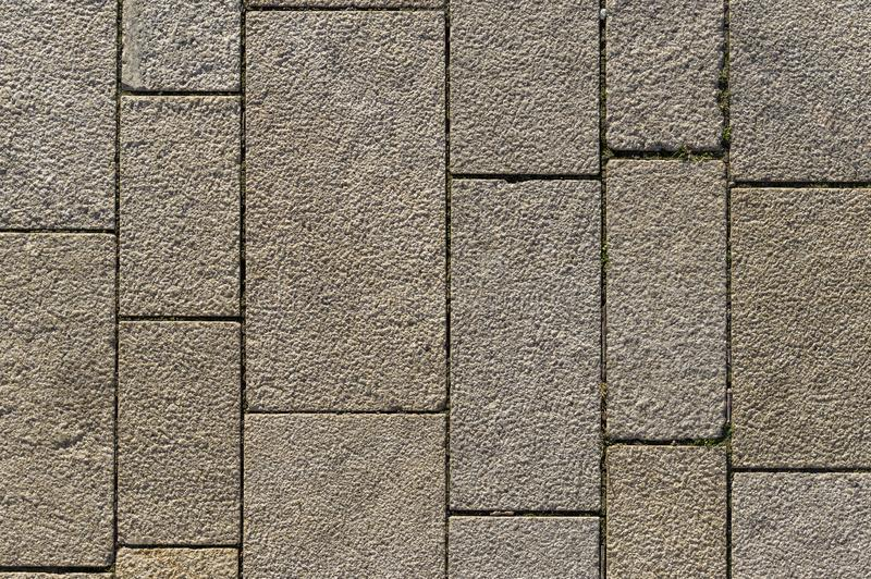 Market square with differently sized concrete blocks and joints royalty free stock photography