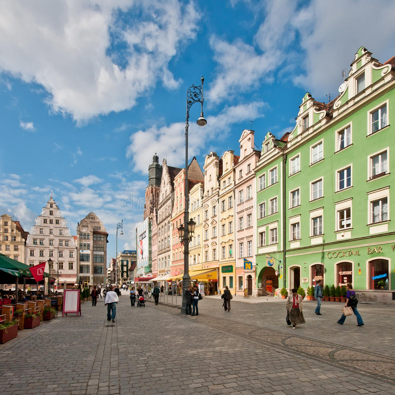 Download Market Square - Main Square In Wroclaw, Poland Editorial Photography - Image of cloud, house: 20253692