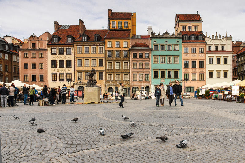 Market square in the Old town. Warsaw. Poland. The Old Town Market square. Warsaw. Poland stock photos