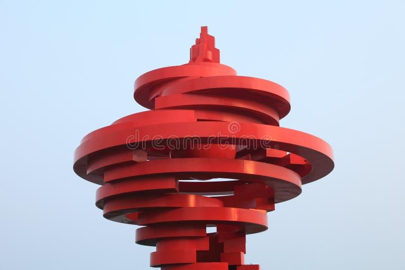 Market square of Qingdao, China royalty free stock image