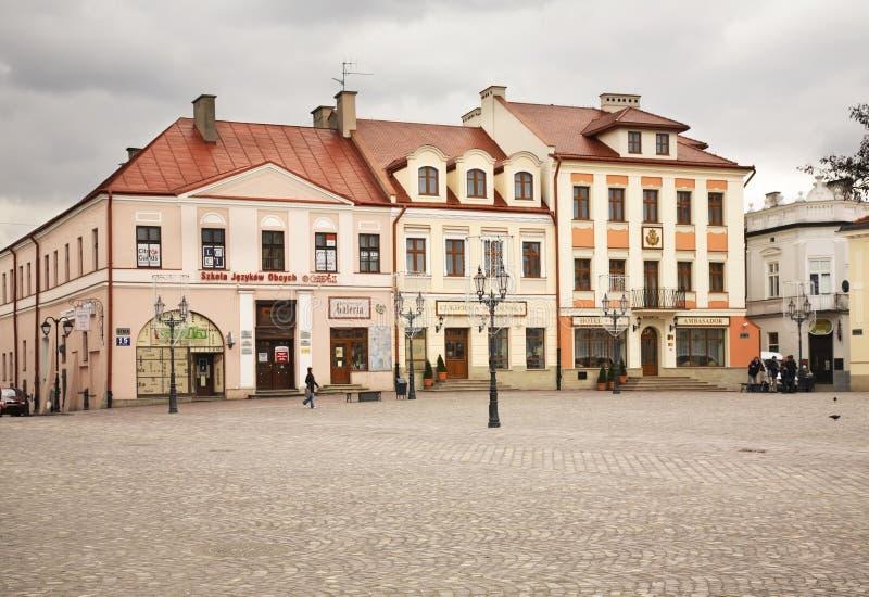 Market square in Rzeszow. Poland.  stock photos