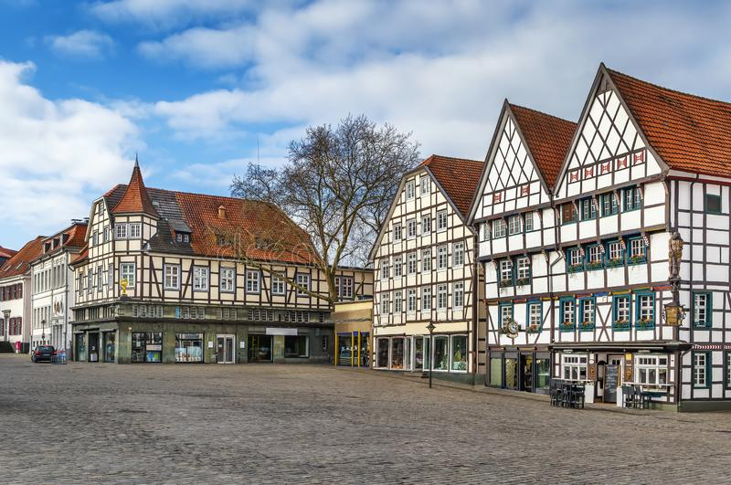 Market square, Soest, Germany royalty free stock photography