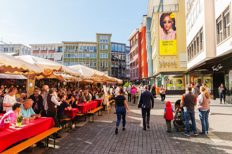 Market square in Stuttgart, Germany royalty free stock photos