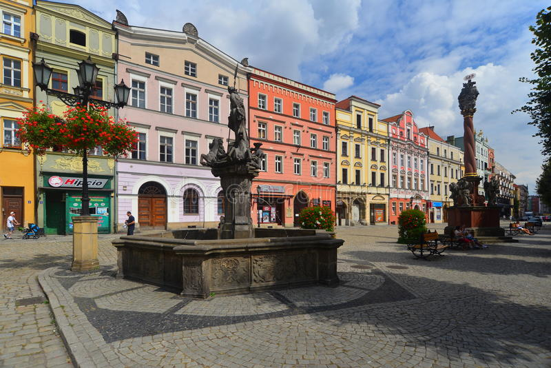 Market square in Swidnica royalty free stock photography