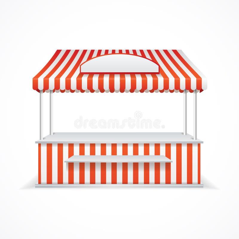 Market stall. Vector royalty free illustration