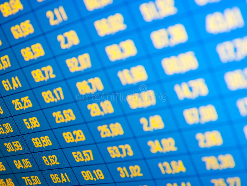 Download Market Stats On Computer Screen Stock Photo - Image: 16846956