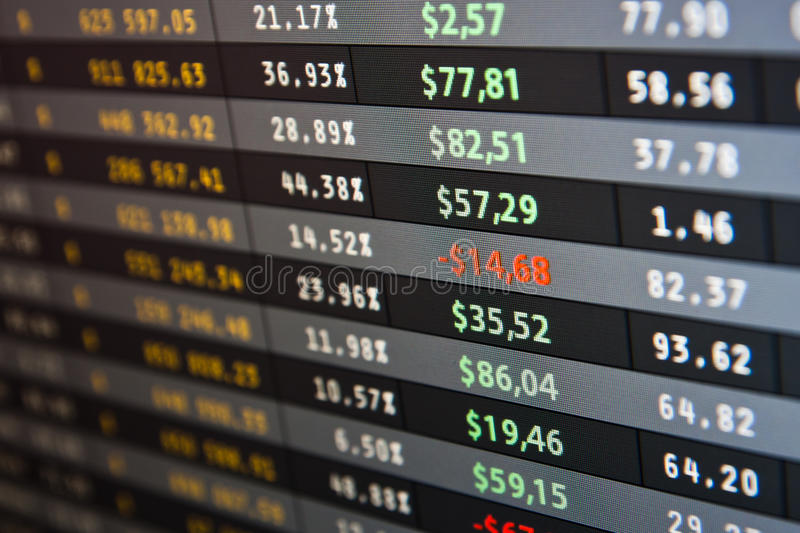 Download Market Stats On Computer Screen Stock Image - Image of currency, chart: 17329301