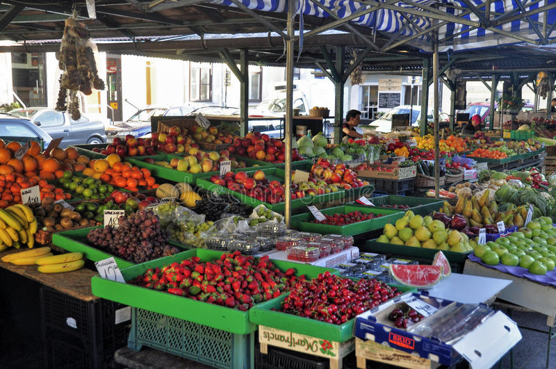 Market in the streets royalty free stock photos