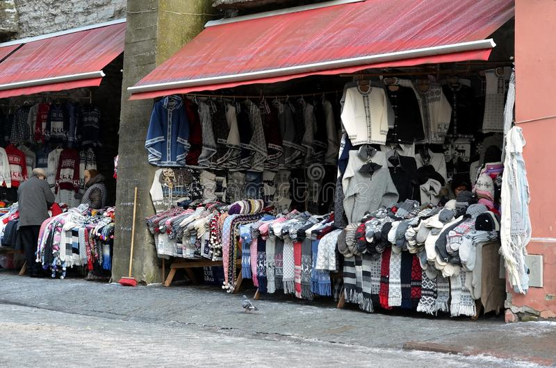 Market in Tallinn, Estonia royalty free stock photography
