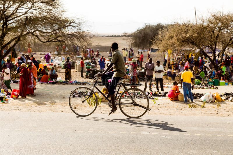 Market in Tanzania. Market in the street. This is in the neighbourhood of Arusha stock photos