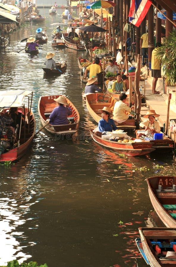 Market.thailand de flutuação fotografia de stock