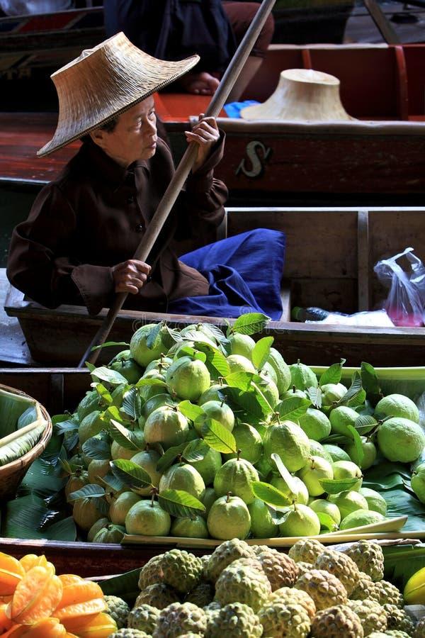 Market.thailand de flutuação imagem de stock