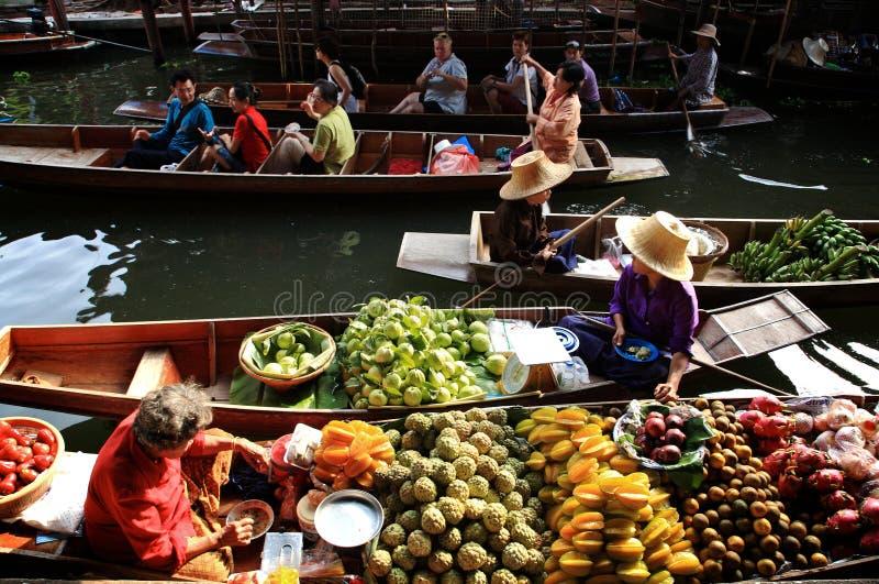 Market.thailand de flutuação fotografia de stock royalty free