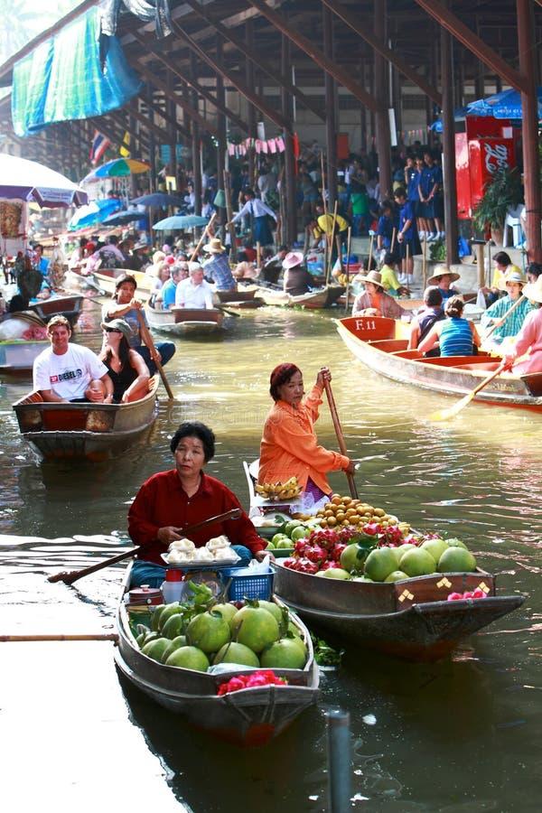Market.thailand de flutuação fotos de stock