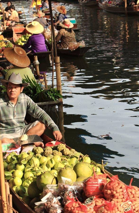 Market.thailand flotante imagen de archivo