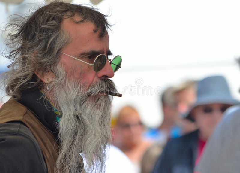 Market Trader with Notable Beard royalty free stock photography