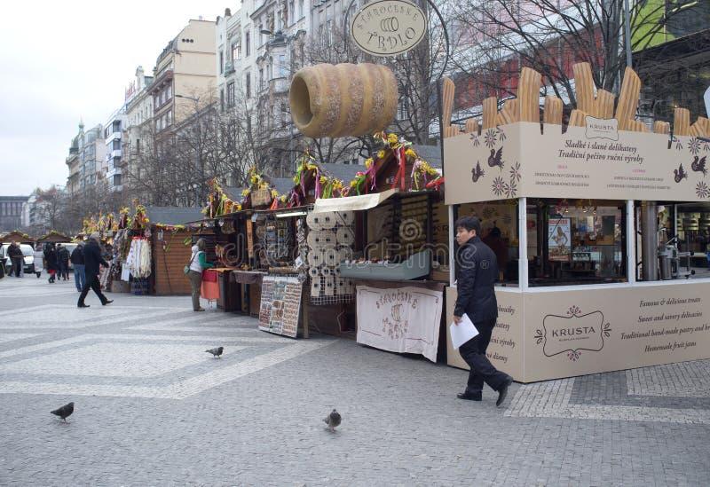 Street market in Prague