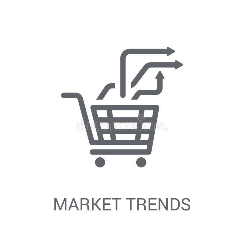 Market trends icon. Trendy Market trends logo concept on white b royalty free illustration