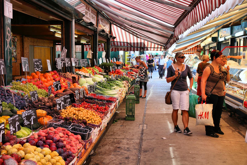 Market in Vienna stock photography