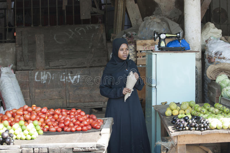 Market woman in Tanzania stock photos