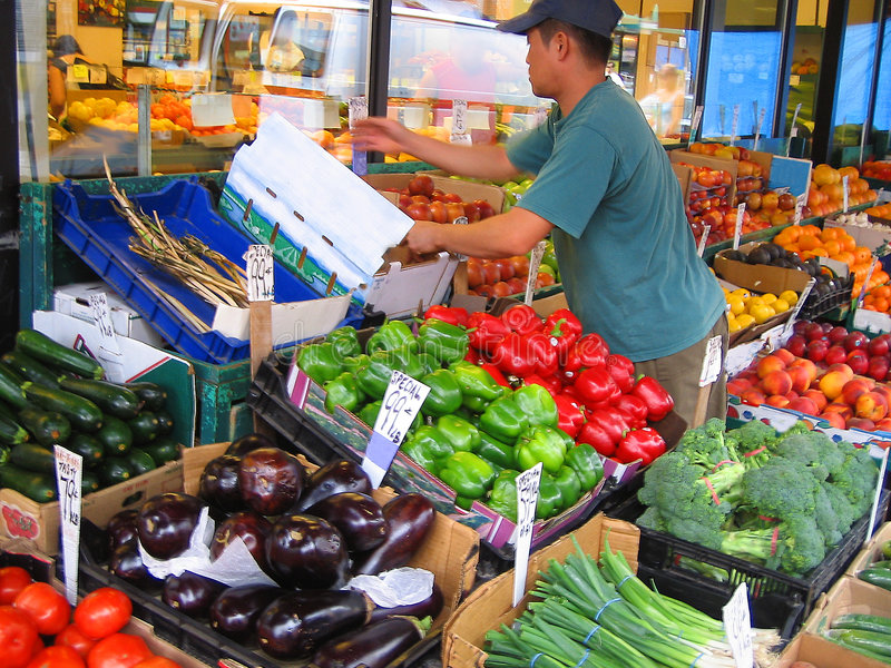 Market worker royalty free stock photos