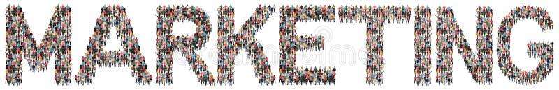 Marketing advertising business strategy multi ethnic group of pe stock image