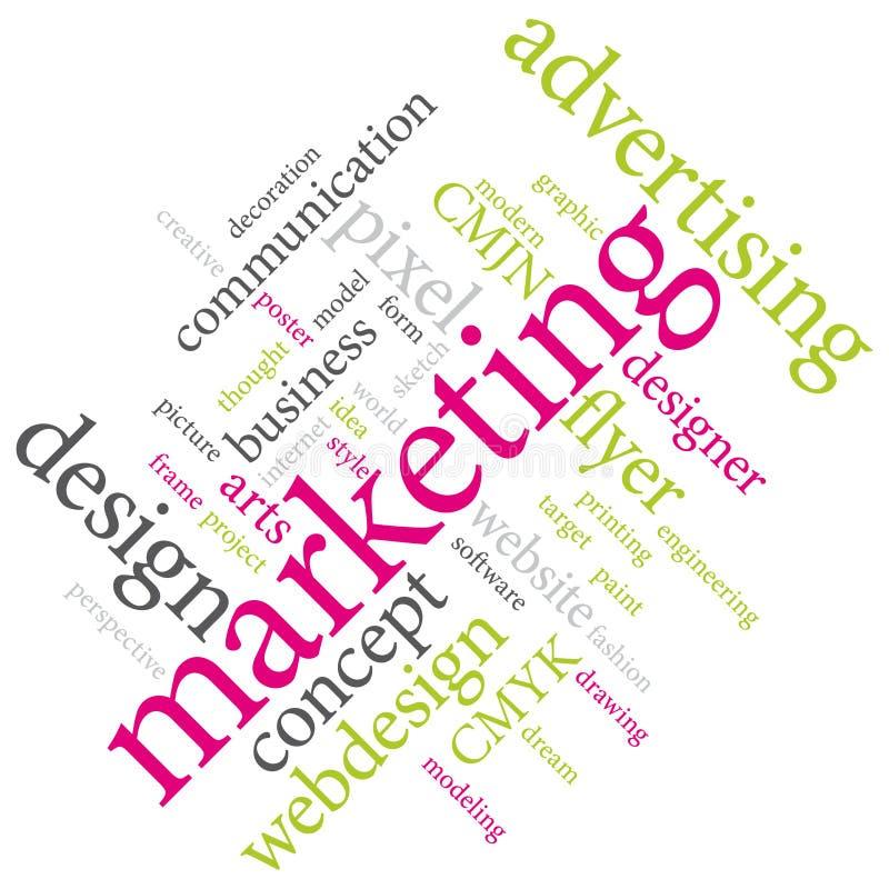 Marketing-Agenturdienstleistungen oder Grafikdesignerjob VIII stock abbildung