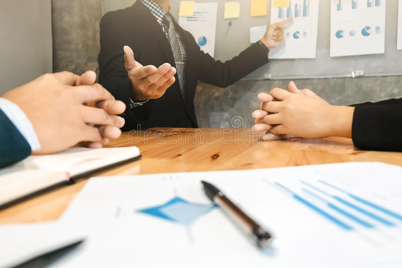 Marketing Analysis sales performance Team, Business meeting Concept royalty free stock photo