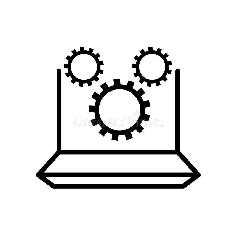 marketing automation icon isolated on white background royalty free illustration