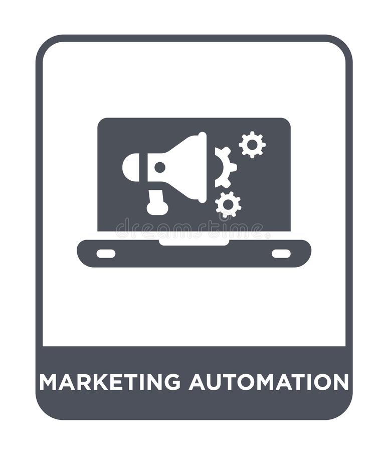 Marketing automation icon in trendy design style. marketing automation icon isolated on white background. marketing automation. Vector icon simple and modern stock illustration