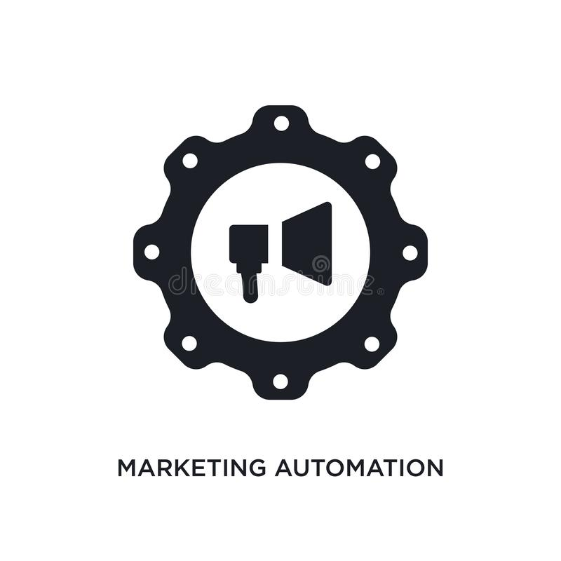 marketing automation isolated icon. simple element illustration from technology concept icons. marketing automation editable logo vector illustration