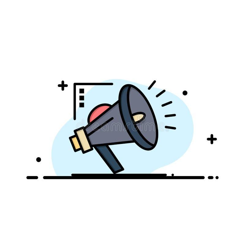 Marketing, Automatisierung, vermarktende Automatisierung, Digital-Geschäft Logo Template flache Farbe stock abbildung