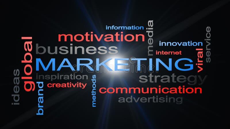 Marketing Bedrijfsstrategieword het Concept van de Wolkentekst stock illustratie