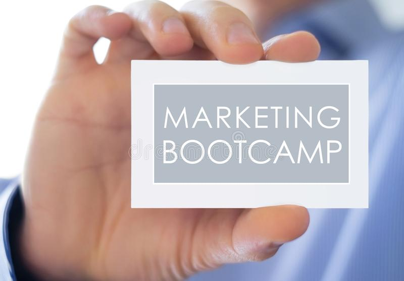 Marketing Bootcamp royalty free stock images