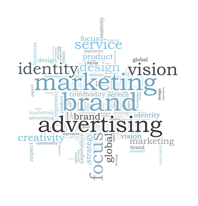 Marketing brand word cloud royalty free illustration