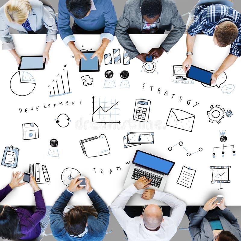 Marketing Business Corporation Progress Concept stock image