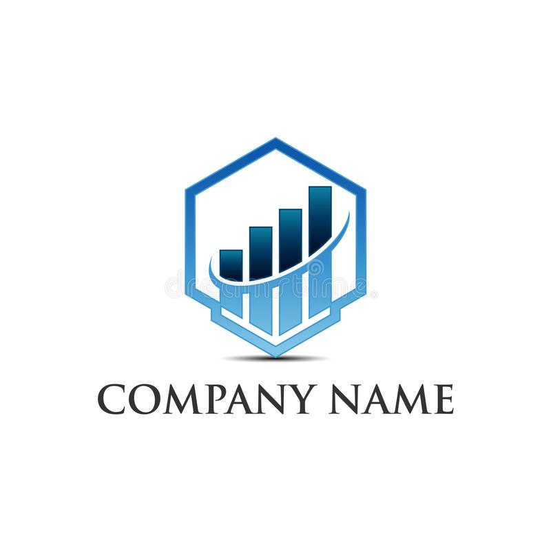 Marketing and Business finance logo template - vector concept illustration. Business finance logo template - vector concept illustration. Economic infographic stock illustration