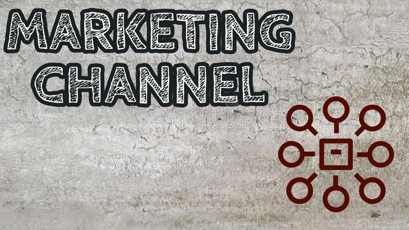 Marketing channel stock image