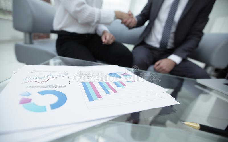 Marketing chart on the desktop. business background stock photography